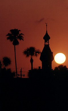 """Sunset, University of Tampa"""